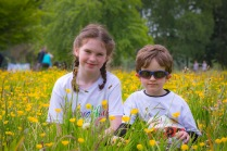 NO FEE PICTURES 28/5/16 Alison Traynor, age 9 and her brother Oscar, age 4 at the Irish Kidney Association's Run For Life in support of Organ Donation at Corkagh Park in Dublin. Pictures:Arthur Carron