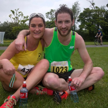 NO FEE PICTURES 28/5/16 Andrea Campbell, Skerries and Kevin English, Kilnamanagh at the Irish Kidney Association's Run For Life in support of Organ Donation at Corkagh Park in Dublin. Pictures:Arthur Carron