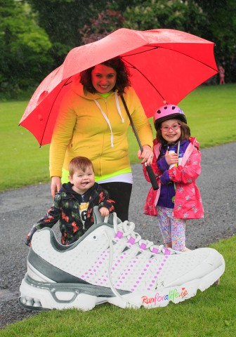 ***NO FEE PIC *** 20/05/2017 Members of the Kinihan family Sam 3 who is on dialysis Chloe & Ali kinihan 6 all From Baldoyle during the Irish Kidney Association's Run for a Life family fun run which will take place this Saturday 20th May at Corkagh Park, Clondalkin, Dublin. The IKA's Run for a Life is a charity fundraiser and celebrates the 'gift of life' and aims to raise awareness about the vital importance of organ donation and transplantation. Now in its 9th year 'Run for a Life' is open to people of all ages with the option of walking, jogging or running competitively in either a chip timed 2.5km, 5km or 10km distance. Based on last year's attendance over 500 people are expected to register for the event. For more information on the event visit website www.runforalife.ie For organ donor cards Freetext DONOR to 50050 or visit website www.ika.ie/card You can now download the IKA's new digital donor card by visiting www.donor.ie on your smartphone. Your wishes to be an organ donor can also be included on the new format driving licence which is represented by Code 115. Photo: Arthur Carron