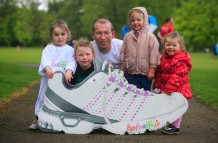 ***NO FEE PIC *** 20/05/2017 Kieran Murray with Isabelle Keogh 2 Chloe Murray 6 Grace Murray 4 Sophie Murray 2 all from Melton Donegal during the Irish Kidney Association's Run for a Life family fun run which will take place this Saturday 20th May at Corkagh Park, Clondalkin, Dublin. The IKA's Run for a Life is a charity fundraiser and celebrates the 'gift of life' and aims to raise awareness about the vital importance of organ donation and transplantation. Now in its 9th year 'Run for a Life' is open to people of all ages with the option of walking, jogging or running competitively in either a chip timed 2.5km, 5km or 10km distance. Based on last year's attendance over 500 people are expected to register for the event. For more information on the event visit website www.runforalife.ie For organ donor cards Freetext DONOR to 50050 or visit website www.ika.ie/card You can now download the IKA's new digital donor card by visiting www.donor.ie on your smartphone. Your wishes to be an organ donor can also be included on the new format driving licence which is represented by Code 115. Photo: Arthur Carron