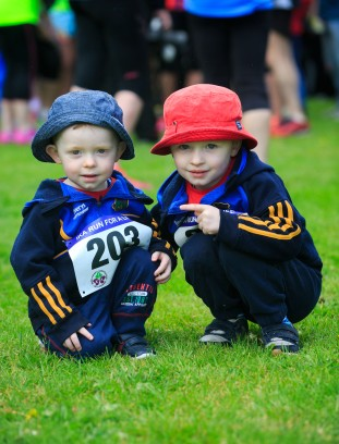 ***NO FEE PIC *** 20/05/2017 (L to R) Liam 2 & Conor 3 Bowles from Kilcock during the Irish Kidney Association's Run for a Life family fun run which will take place this Saturday 20th May at Corkagh Park, Clondalkin, Dublin. The IKA's Run for a Life is a charity fundraiser and celebrates the 'gift of life' and aims to raise awareness about the vital importance of organ donation and transplantation. Now in its 9th year 'Run for a Life' is open to people of all ages with the option of walking, jogging or running competitively in either a chip timed 2.5km, 5km or 10km distance. Based on last year's attendance over 500 people are expected to register for the event. For more information on the event visit website www.runforalife.ie For organ donor cards Freetext DONOR to 50050 or visit website www.ika.ie/card You can now download the IKA's new digital donor card by visiting www.donor.ie on your smartphone. Your wishes to be an organ donor can also be included on the new format driving licence which is represented by Code 115. Photo: Arthur Carron