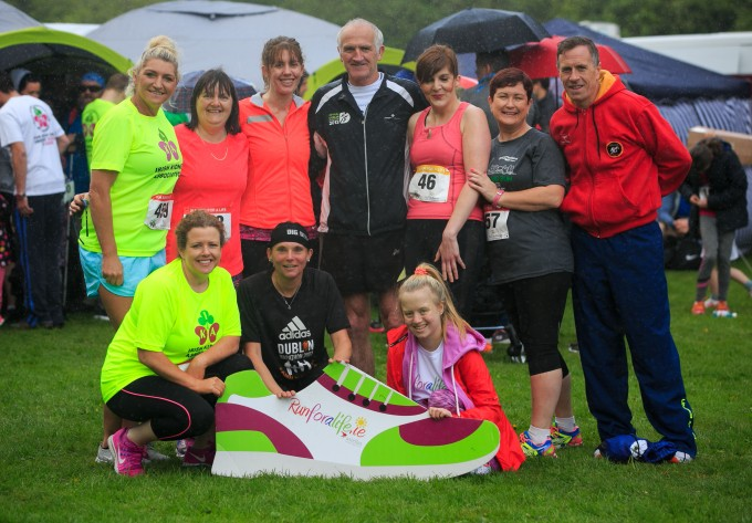 ***NO FEE PIC *** 20/05/2017 Members of Tallaght AC during the Irish Kidney Association's Run for a Life family fun run which will take place this Saturday 20th May at Corkagh Park, Clondalkin, Dublin. The IKA's Run for a Life is a charity fundraiser and celebrates the 'gift of life' and aims to raise awareness about the vital importance of organ donation and transplantation. Now in its 9th year 'Run for a Life' is open to people of all ages with the option of walking, jogging or running competitively in either a chip timed 2.5km, 5km or 10km distance. Based on last year's attendance over 500 people are expected to register for the event. For more information on the event visit website www.runforalife.ie For organ donor cards Freetext DONOR to 50050 or visit website www.ika.ie/card You can now download the IKA's new digital donor card by visiting www.donor.ie on your smartphone. Your wishes to be an organ donor can also be included on the new format driving licence which is represented by Code 115. Photo: Arthur Carron