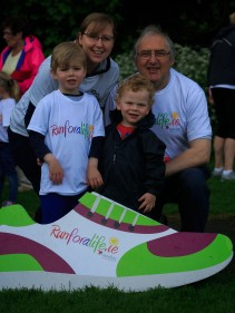 ***NO FEE PIC *** 20/05/2017 Sarah Jane Kavanagh Peter Pardoe with Joshua Kavanagh4 & Ethan Kavanagh 2 all from Laois during the Irish Kidney Association's Run for a Life family fun run which will take place this Saturday 20th May at Corkagh Park, Clondalkin, Dublin. The IKA's Run for a Life is a charity fundraiser and celebrates the 'gift of life' and aims to raise awareness about the vital importance of organ donation and transplantation. Now in its 9th year 'Run for a Life' is open to people of all ages with the option of walking, jogging or running competitively in either a chip timed 2.5km, 5km or 10km distance. Based on last year's attendance over 500 people are expected to register for the event. For more information on the event visit website www.runforalife.ie For organ donor cards Freetext DONOR to 50050 or visit website www.ika.ie/card You can now download the IKA's new digital donor card by visiting www.donor.ie on your smartphone. Your wishes to be an organ donor can also be included on the new format driving licence which is represented by Code 115. Photo: Arthur Carron
