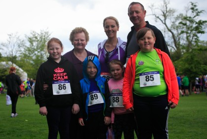 ***NO FEE PIC *** 20/05/2017 Members of the Curran family from Kildare during the Irish Kidney Association's Run for a Life family fun run which will take place this Saturday 20th May at Corkagh Park, Clondalkin, Dublin. The IKA's Run for a Life is a charity fundraiser and celebrates the 'gift of life' and aims to raise awareness about the vital importance of organ donation and transplantation. Now in its 9th year 'Run for a Life' is open to people of all ages with the option of walking, jogging or running competitively in either a chip timed 2.5km, 5km or 10km distance. Based on last year's attendance over 500 people are expected to register for the event. For more information on the event visit website www.runforalife.ie For organ donor cards Freetext DONOR to 50050 or visit website www.ika.ie/card You can now download the IKA's new digital donor card by visiting www.donor.ie on your smartphone. Your wishes to be an organ donor can also be included on the new format driving licence which is represented by Code 115. Photo: Arthur Carron