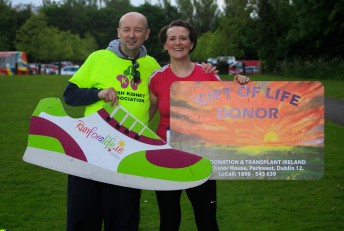 ***NO FEE PIC *** 20/05/2017 Brother & sister Gerry & Nicola Mckenna from Clones Co Monaghan who underwent a living donor kidney transplant 6 weeks ago during the Irish Kidney Association's Run for a Life family fun run which will take place this Saturday 20th May at Corkagh Park, Clondalkin, Dublin. The IKA's Run for a Life is a charity fundraiser and celebrates the 'gift of life' and aims to raise awareness about the vital importance of organ donation and transplantation. Now in its 9th year 'Run for a Life' is open to people of all ages with the option of walking, jogging or running competitively in either a chip timed 2.5km, 5km or 10km distance. Based on last year's attendance over 500 people are expected to register for the event. For more information on the event visit website www.runforalife.ie For organ donor cards Freetext DONOR to 50050 or visit website www.ika.ie/card You can now download the IKA's new digital donor card by visiting www.donor.ie on your smartphone. Your wishes to be an organ donor can also be included on the new format driving licence which is represented by Code 115. Photo: Arthur Carron