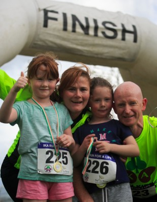 ***NO FEE PIC *** 20/05/2017 Member of the O'connor family Joanne & Fin with Siobhan 7 & Roisin 5 all from Clondalkin during the Irish Kidney Association's Run for a Life family fun run which will take place this Saturday 20th May at Corkagh Park, Clondalkin, Dublin. The IKA's Run for a Life is a charity fundraiser and celebrates the 'gift of life' and aims to raise awareness about the vital importance of organ donation and transplantation. Now in its 9th year 'Run for a Life' is open to people of all ages with the option of walking, jogging or running competitively in either a chip timed 2.5km, 5km or 10km distance. Based on last year's attendance over 500 people are expected to register for the event. For more information on the event visit website www.runforalife.ie For organ donor cards Freetext DONOR to 50050 or visit website www.ika.ie/card You can now download the IKA's new digital donor card by visiting www.donor.ie on your smartphone. Your wishes to be an organ donor can also be included on the new format driving licence which is represented by Code 115. Photo: Arthur Carron