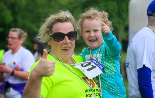 ***NO FEE PIC *** 20/05/2017 Gillian Foster & Orlaith Boyle 3 all from Carlow during the Irish Kidney Association's Run for a Life family fun run which will take place this Saturday 20th May at Corkagh Park, Clondalkin, Dublin. The IKA's Run for a Life is a charity fundraiser and celebrates the 'gift of life' and aims to raise awareness about the vital importance of organ donation and transplantation. Now in its 9th year 'Run for a Life' is open to people of all ages with the option of walking, jogging or running competitively in either a chip timed 2.5km, 5km or 10km distance. Based on last year's attendance over 500 people are expected to register for the event. For more information on the event visit website www.runforalife.ie For organ donor cards Freetext DONOR to 50050 or visit website www.ika.ie/card You can now download the IKA's new digital donor card by visiting www.donor.ie on your smartphone. Your wishes to be an organ donor can also be included on the new format driving licence which is represented by Code 115. Photo: Arthur Carron
