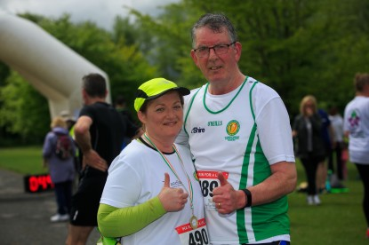 ***NO FEE PIC *** 20/05/2017 Deirdre Crowe & Ned Crowe (Deirdre donated a kidney to Ned) all from Carrick on suir Tipperary during the Irish Kidney Association's Run for a Life family fun run which will take place this Saturday 20th May at Corkagh Park, Clondalkin, Dublin. The IKA's Run for a Life is a charity fundraiser and celebrates the 'gift of life' and aims to raise awareness about the vital importance of organ donation and transplantation. Now in its 9th year 'Run for a Life' is open to people of all ages with the option of walking, jogging or running competitively in either a chip timed 2.5km, 5km or 10km distance. Based on last year's attendance over 500 people are expected to register for the event. For more information on the event visit website www.runforalife.ie For organ donor cards Freetext DONOR to 50050 or visit website www.ika.ie/card You can now download the IKA's new digital donor card by visiting www.donor.ie on your smartphone. Your wishes to be an organ donor can also be included on the new format driving licence which is represented by Code 115. Photo: Arthur Carron