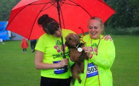 ***NO FEE PIC *** 20/05/2017 Aoife Murray & Mags Murray with ted the dog all from Clonsilla during the Irish Kidney Association's Run for a Life family fun run which will take place this Saturday 20th May at Corkagh Park, Clondalkin, Dublin. The IKA's Run for a Life is a charity fundraiser and celebrates the 'gift of life' and aims to raise awareness about the vital importance of organ donation and transplantation. Now in its 9th year 'Run for a Life' is open to people of all ages with the option of walking, jogging or running competitively in either a chip timed 2.5km, 5km or 10km distance. Based on last year's attendance over 500 people are expected to register for the event. For more information on the event visit website www.runforalife.ie For organ donor cards Freetext DONOR to 50050 or visit website www.ika.ie/card You can now download the IKA's new digital donor card by visiting www.donor.ie on your smartphone. Your wishes to be an organ donor can also be included on the new format driving licence which is represented by Code 115. Photo: Arthur Carron