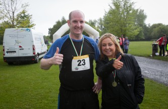 ***NO FEE PIC *** 20/05/2017 Micheal holahan & Andrea hnlahan from ratoath during the Irish Kidney Association's Run for a Life family fun run which will take place this Saturday 20th May at Corkagh Park, Clondalkin, Dublin. The IKA's Run for a Life is a charity fundraiser and celebrates the 'gift of life' and aims to raise awareness about the vital importance of organ donation and transplantation. Now in its 9th year 'Run for a Life' is open to people of all ages with the option of walking, jogging or running competitively in either a chip timed 2.5km, 5km or 10km distance. Based on last year's attendance over 500 people are expected to register for the event. For more information on the event visit website www.runforalife.ie For organ donor cards Freetext DONOR to 50050 or visit website www.ika.ie/card You can now download the IKA's new digital donor card by visiting www.donor.ie on your smartphone. Your wishes to be an organ donor can also be included on the new format driving licence which is represented by Code 115. Photo: Arthur Carron