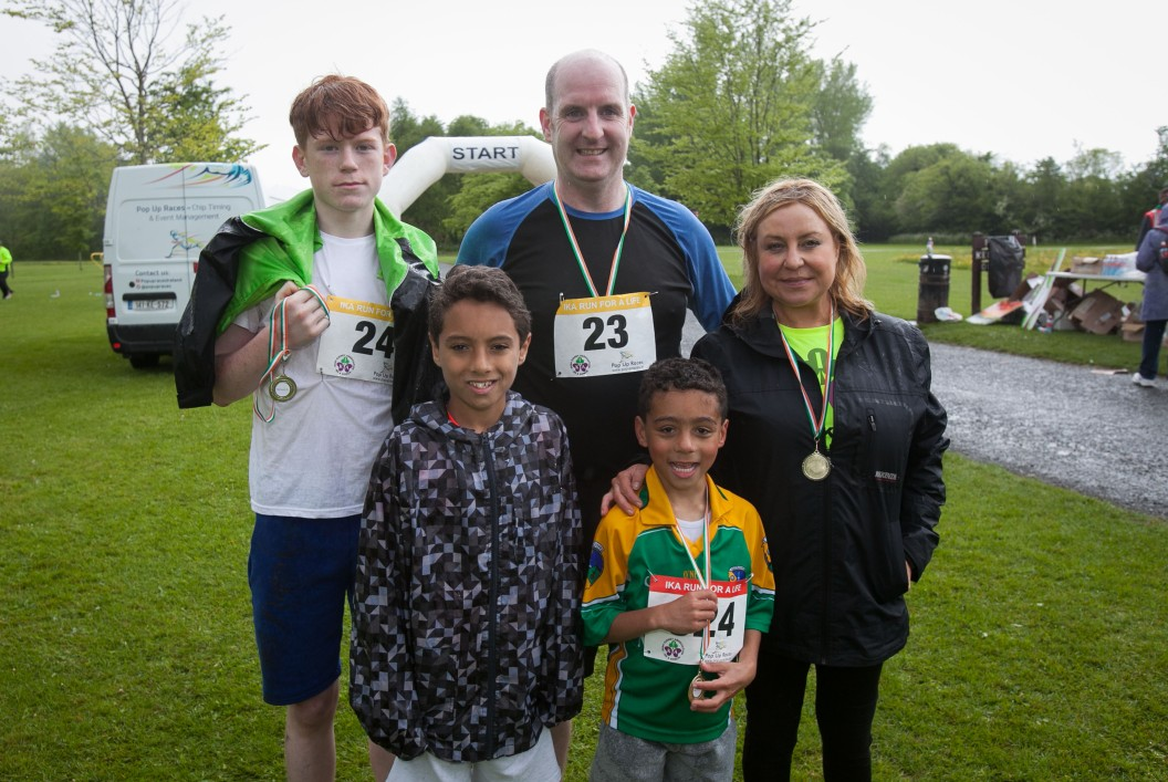 ***NO FEE PIC *** 20/05/2017 during the Irish Kidney Association's Run for a Life family fun run which will take place this Saturday 20th May at Corkagh Park, Clondalkin, Dublin. The IKA's Run for a Life is a charity fundraiser and celebrates the 'gift of life' and aims to raise awareness about the vital importance of organ donation and transplantation. Now in its 9th year 'Run for a Life' is open to people of all ages with the option of walking, jogging or running competitively in either a chip timed 2.5km, 5km or 10km distance. Based on last year's attendance over 500 people are expected to register for the event. For more information on the event visit website www.runforalife.ie For organ donor cards Freetext DONOR to 50050 or visit website www.ika.ie/card You can now download the IKA's new digital donor card by visiting www.donor.ie on your smartphone. Your wishes to be an organ donor can also be included on the new format driving licence which is represented by Code 115. Photo: Arthur Carron